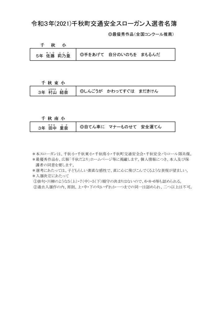 子どもスローガン入選者名簿(HP)R3掲載用のサムネイル